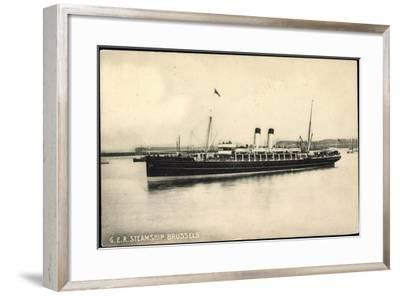 View of G.E.R. Steamship Brussels--Framed Giclee Print