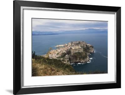View of Gaeta and Castle, Lazio, Italy--Framed Photographic Print