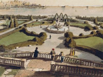 View of Genoa from Garden of Palazzo Doria--Giclee Print
