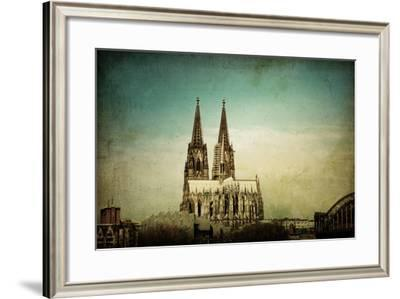 View of Gothic Cathedral in Cologne, Germany-ilolab-Framed Photographic Print