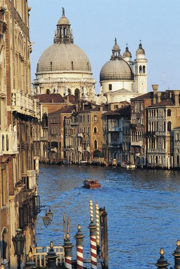 View of Grand Canal with Basilica of Saint Mary of Health--Giclee Print