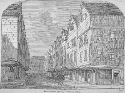View of Great Winchester Street, City of London, 1850--Giclee Print