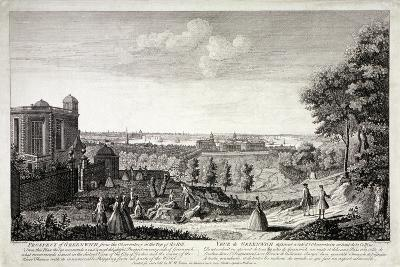 View of Greenwich from the Hill in Greenwich Park, London, C1750-S Torres-Giclee Print