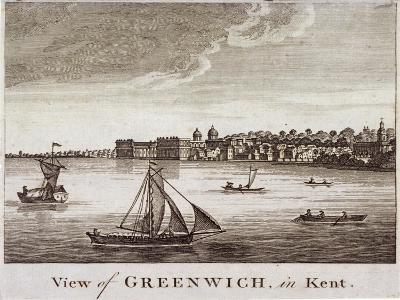 View of Greenwich with Boats on the River Thames in the Foreground, London, 1780--Giclee Print