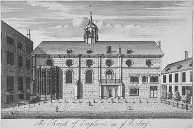 View of Grocers' Hall at Time it Housed Bank of England, City of London, 1730--Giclee Print