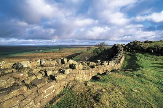 View of Hadrian's Wall, Walltown Crags, Hadrian's Wall--Photographic Print