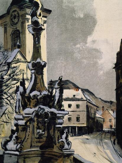 View of Hainburg an Der Donau, Austria, City Where Franz Joseph Haydn--Giclee Print