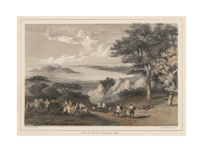 View of Hakodadi from Snow Peak, 1855-Wilhelm Joseph Heine-Giclee Print