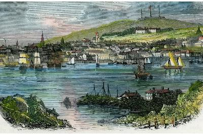 View of Halifax, Nova Scotia, C1870--Giclee Print