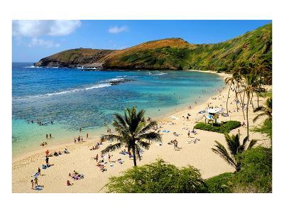 View of Hanauma Bay, Island of Oahu, Hawaii, USA--Art Print