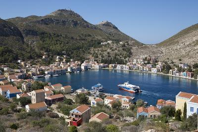 View of Harbour, Kastellorizo (Meis), Dodecanese, Greek Islands, Greece, Europe-Stuart Black-Photographic Print