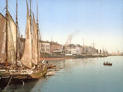 View of Havnegade, Copenhagen, Pub. 1900--Giclee Print