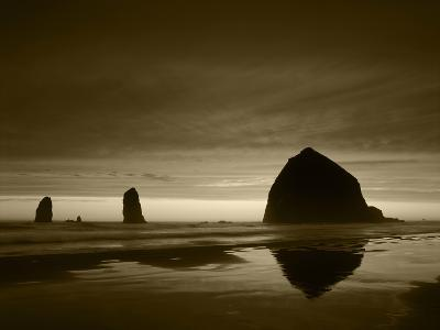 View of Haystack Rock on Cannon Beach at Sunset, Oregon, USA-Stuart Westmorland-Photographic Print