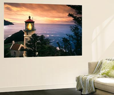 View of Heceta Head Lighthouse at Sunset, Oregon, USA-Stuart Westmorland-Wall Mural