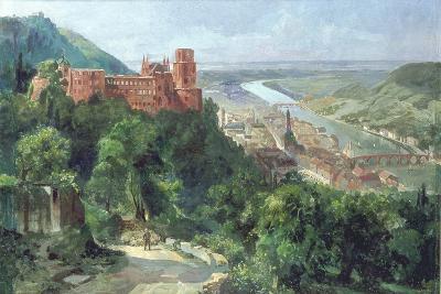 View of Heidelberg, c.1910-Fritz Genutat-Giclee Print