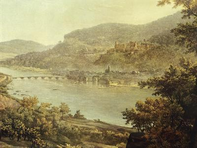 View of Heidelberg on the Neckar River, Germany 19th Century Detail--Giclee Print