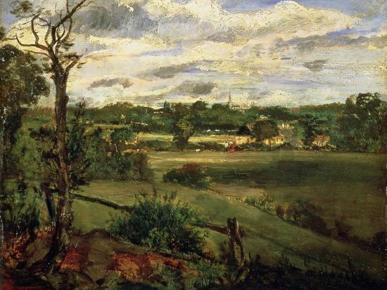 View of Highgate from Hampstead Heath, circa 1834-John Constable-Giclee Print