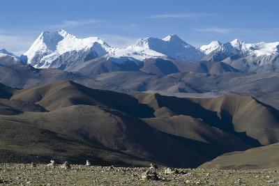 View of Himalaya Range (The World's Tallest Mountains), Tibet, China-Natalie Tepper-Photo