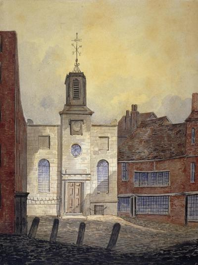 View of Holy Trinity Church, Minories, City of London, 1810-William Pearson-Giclee Print