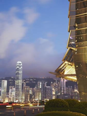 View of Hong Kong Island Skyline from Icc, Hong Kong, China-Ian Trower-Photographic Print