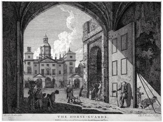 View of Horse Guards, Westminster, London, 1768-Edward Rooker-Giclee Print
