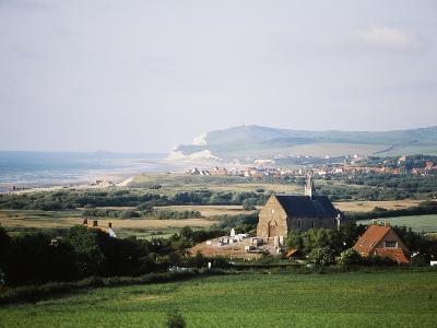 View of Houses Along Coastline, Pas-De-Calais, France-David Barnes-Photographic Print