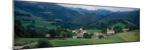 View of houses in a field, Esnazu, Basque Country, Pyrenees-Atlantiques, France