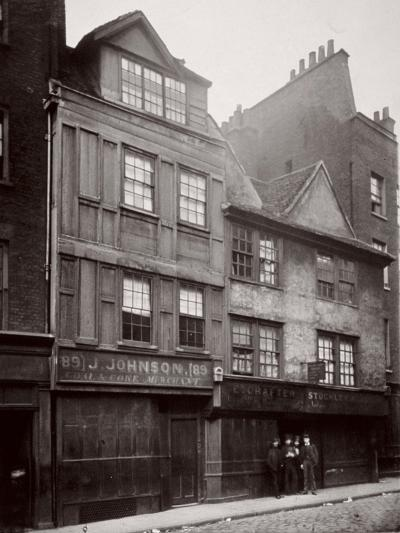 View of Houses in Drury Lane, Westminster, London, 1876--Photographic Print