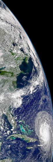 View of Hurricane Frances On a Partial View of Earth-Stocktrek Images-Photographic Print