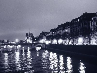 View of Ile St. Louis, Seine River, France-Walter Bibikow-Photographic Print