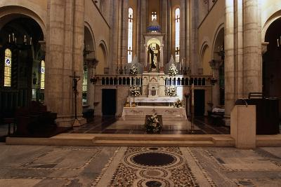 View of Interior of Basilica of St Theresa of Child Jesus, Anzio, Lazio, Italy--Giclee Print
