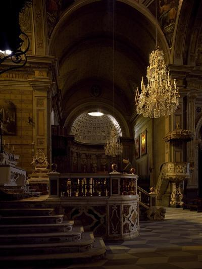 View of Interior of Cathedral of Santa Maria Assunta, Oristano, Sardinia, Italy--Giclee Print