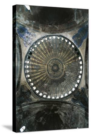 View of Interior of Dome of Hagia Sophia--Stretched Canvas Print