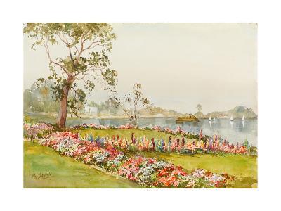View of Inya Lake, Yangon, 1940s-Saya Saung-Giclee Print