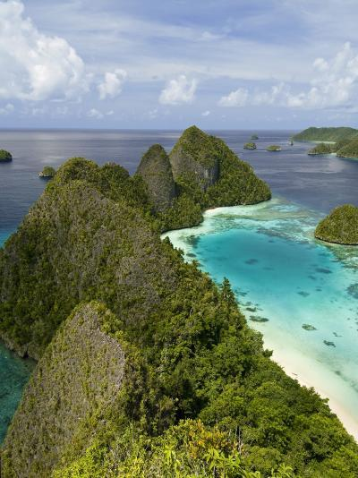 View of Islands Covered With Vegetation, Raja Ampat, New Guinea Island, Indonesia--Photographic Print