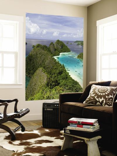 View of Islands Covered With Vegetation, Raja Ampat, New Guinea Island, Indonesia--Wall Mural