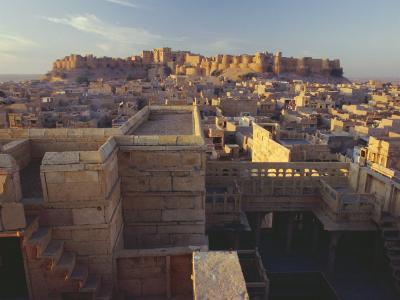 View of Jaisalmer Fort, Built in 1156 by Rawal Jaisal, Rajasthan, India-John Henry Claude Wilson-Photographic Print