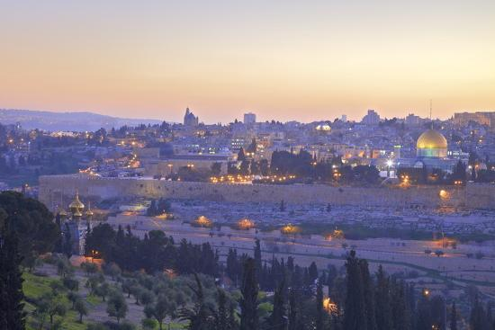View of Jerusalem from the Mount of Olives, Jerusalem, Israel, Middle East-Neil Farrin-Photographic Print