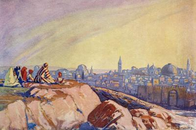 View of Jerusalem Seen from Golgotha, C.1910-Harry Morley-Giclee Print