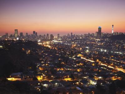 View of Johannesburg Skyline at Sunset, Gauteng, South Africa-Ian Trower-Photographic Print