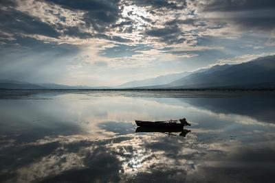 View of Kerkini Lake with Dramatic Sky in Greece-dinosmichail-Photographic Print