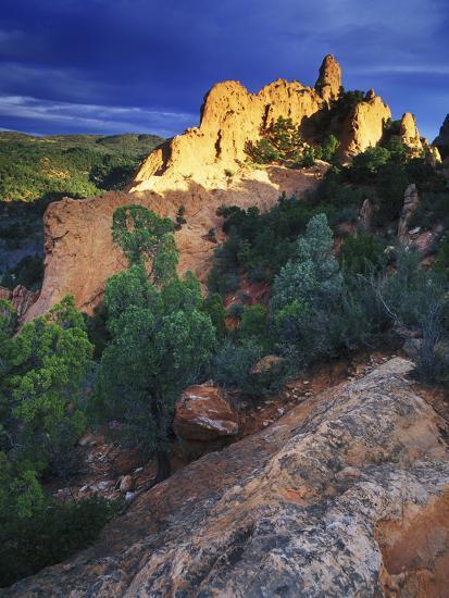 View of Keyhole Rock, Garden of the Gods, Colorado-Keith Ladzinski-Photographic Print