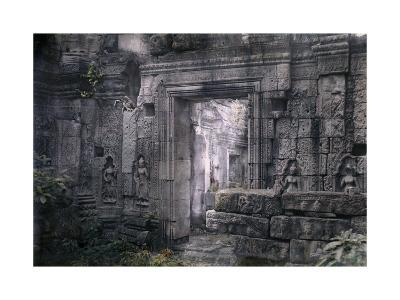 View of Khmer King Yacovarman's Ancient City, Angkor Thom-Gervais Courtellemont-Photographic Print