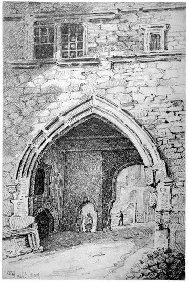 View of King John's Gate in the Abbey of St Saviour, Bermondsey, London, 1807-George Shepherd-Giclee Print