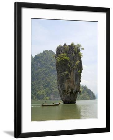 View of Koh Ping-Gan from Koh Ta Poo, Known as James Bond Island, Phang-Nga Bay, Thailand-Sergio Pitamitz-Framed Photographic Print