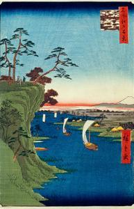 View of Konodai And the Tone River (One Hundred Famous Views of Edo)