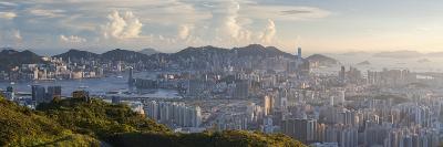 View of Kowloon and Hong Kong Island from Tate's Cairn, Kowloon, Hong Kong-Ian Trower-Photographic Print