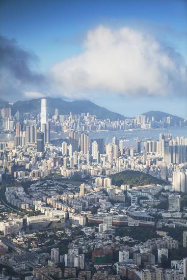 View of Kowloon and Hong Kong Island, Hong Kong, China, Asia-Ian Trower-Photographic Print