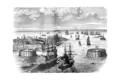 View of Kronstadt, Russia, 1882-1884--Giclee Print