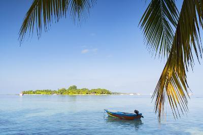 View of Kuramathi Island, Rasdhoo Island, Northern Ari Atoll, Maldives, Indian Ocean, Asia-Ian Trower-Photographic Print